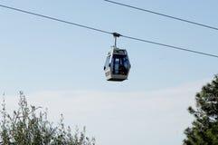 O teleférico no céu em Alanya Turquia Cabo aéreo modular Foto de Stock Royalty Free