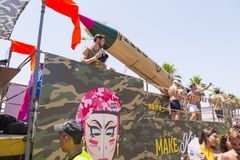 20o telefone Aviv Pride, Israel Fotografia de Stock