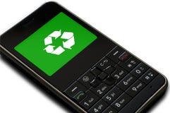 O telefone de pilha recicl Fotografia de Stock Royalty Free