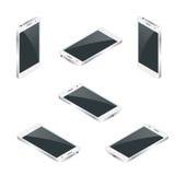 O telefone esperto isolou-se Ilustração isométrica do vetor 3d liso do telefone celular Imagens de Stock Royalty Free