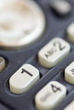 O telefone macro do close up disca números imagens de stock royalty free