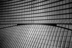 O telhado da estação de trem de Liège-Guillemins Fotos de Stock Royalty Free