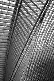 O telhado da estação de trem de Liège-Guillemins Imagem de Stock