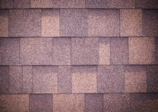 O telhado do marrom shingles o fundo e a textura vignette fotografia de stock