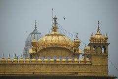O telhado do templo dourado em Amritsar Fotos de Stock Royalty Free