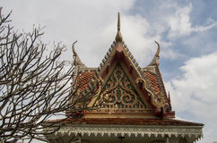 O telhado oriental do templo Imagens de Stock Royalty Free