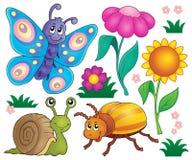 O tema dos animais e do inseto da mola ajustou 2 Fotografia de Stock Royalty Free