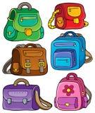 O tema dos sacos de escola ajustou 1 Imagem de Stock