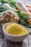 O tempero de Vegeta tempera o condimento com as pastinaga e sal desidratados do aipo da salsa da cenoura com ou sem o glutamato Foto de Stock Royalty Free