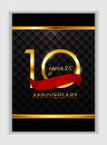 O2017-06-08-07. Template 10 Years Anniversary Congratulations Vector Illustration EPS10r vector illustration