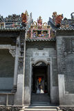 O templo ancestral famoso da atração turística em Guangzhou, China, é uma porta lateral do complexo Fotografia de Stock