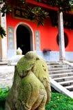O templo antigo na montanha de Yuelu na cidade de Changsha imagens de stock