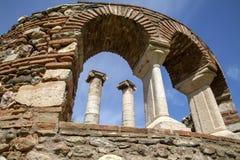 O Templo de Ártemis, cidade antiga de Sardes Manisa - Turquia fotos de stock