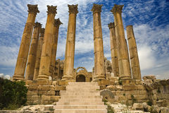 O templo de Artemis em Jerash Fotografia de Stock Royalty Free