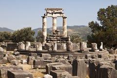 O templo de Athena em Delphi Imagem de Stock