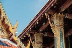 O templo de Emerald Buddha ou do WAT PHRA KAEW de Tailândia Foto de Stock