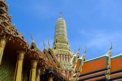 O templo de Emerald Buddha ou do WAT PHRA KAEW de Tailândia Imagens de Stock