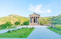 O templo de Garni foto de stock