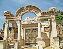 O templo de Hadrian Imagem de Stock