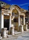 O templo de Hadrian, Ephesus Fotos de Stock Royalty Free