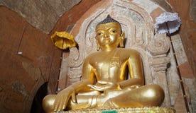 O templo de Htilominlo é um de engodo budista sagrado e a maioria antigo Imagem de Stock Royalty Free