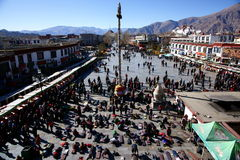 O templo de Jokhang Imagem de Stock Royalty Free