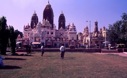 O templo de Laxminarayan/Birla Mandir, Índia de Deli foto de stock royalty free