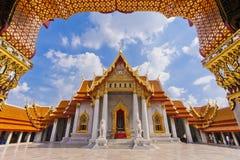 O templo de mármore, Tailândia Fotos de Stock