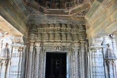 O templo de Mahadeva, Chalukya ocidental, Itagi, Koppal, Karnataka Imagens de Stock Royalty Free