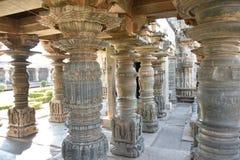 O templo de Mahadeva, Chalukya ocidental, Itagi, Koppal, Karnataka Fotografia de Stock