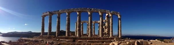 O templo de Poseidon fotografia de stock