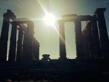 O templo de Poseidon fotos de stock