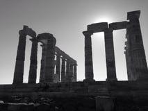 O templo de Poseidon imagem de stock