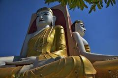 O templo de quatro monges das caras em Myanmar Imagem de Stock Royalty Free