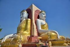 O templo de quatro monges das caras em Myanmar Fotos de Stock Royalty Free