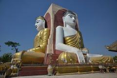 O templo de quatro monges das caras em Myanmar Fotografia de Stock Royalty Free