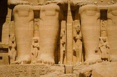 O templo de Ramses II fotografia de stock royalty free