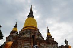 O templo de ruína no ayutthaya Imagem de Stock