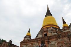 O templo de ruína no ayutthaya Foto de Stock