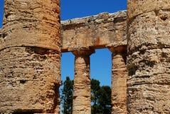 O templo de Segesta (Sicília) Imagem de Stock Royalty Free