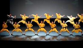 O templo de Shaolin de China executa em Barém, 2012 Foto de Stock Royalty Free