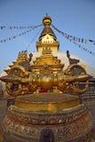 O templo de Swayambhunath foto de stock