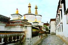 O templo de tibet fotografia de stock