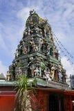 O templo de vidro de Arulmigu Sri Rajakaliamman em Johor Bahru, Malásia imagem de stock royalty free