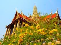 O templo de Wat Phra Kaew é marco de Tailândia Fotos de Stock Royalty Free