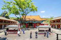 O templo de Yuantong é o templo budista o mais famoso província em Kunming, Yunnan, China Fotos de Stock