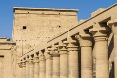O templo do Isis de Philae, Aswan, Egito imagens de stock royalty free