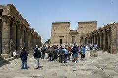O templo do Isis na ilha de Philae (ilha de Agilqiyya) em Egito Fotos de Stock Royalty Free