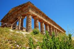 O templo Doric de Segesta Imagens de Stock