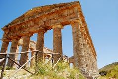 O templo Doric de Segesta Imagem de Stock